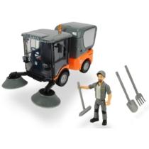Playlife-Street utcai takarítóautó szett figurával