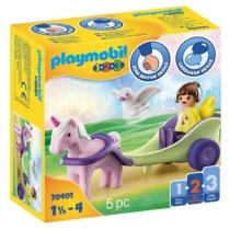Playmobil 1.2.3 Tündér és unikornis fogattal 5 db-os - 70401