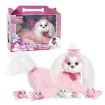 Plüss Kiki kutyus meglepetés kiskutyákkal Puppy Surprise