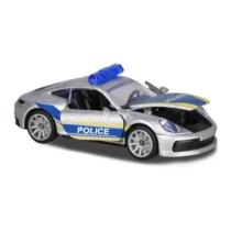 Majorette Porsche Deluxe különleges kiadás Carrera S ezüst rendőr