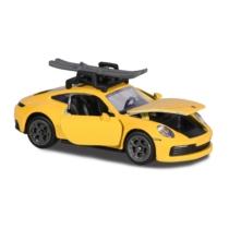 Majorette Porsche Deluxe különleges kiadás Carrera S sárga sílécekkel