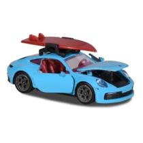 Majorette Porsche Deluxe különleges kiadás Carrera S türkiz szörf deszkával