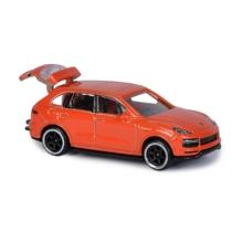Majorette Porsche Prémium fém kisautó kártyával Cayenne Turbo S E-Hybrid narancs