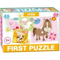Puzzle Az első formaillesztő kirakóm 4 db-os Farm
