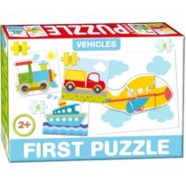 Puzzle Az első formaillesztő kirakóm 4 db-os járművek