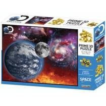 Puzzle Discovery Föld és Hold hologramos 3D hatású 500 db-os