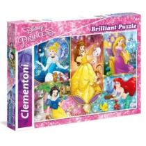 Puzzle Disney Hercegnők csillogó 104 db-os Clementoni