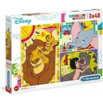 Puzzle Disney válogatás 3x48 db-os Clementoni