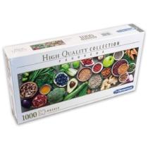 Puzzle Egészséges táplálkozás  Panoráma 1000 db-os Clementoni