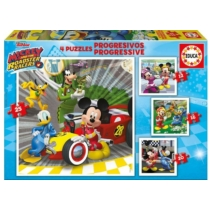 Puzzle Mickey, Donald és Pluto 4 az 1-ben Educa