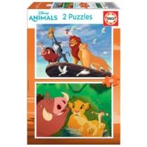 Puzzle Oroszlánkirály 2 x 48 db-os Educa