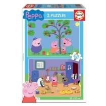 Puzzle Peppa malac almát szed és zenél 2x48 db-os Educa