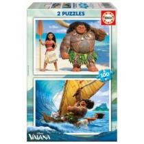 Puzzle Vaiana 2 az 1-ben 2x100 db-os Educa
