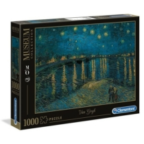 Puzzle Van Gogh Csillagos ég a Rhone fölött 100 db-os Clementoni