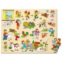 Puzzle formaillesztő gyerekek és kedvencek nagy szett 21 db-os Woody