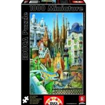 Puzzle mini Gaudi kollázs 1000 db-os Educa