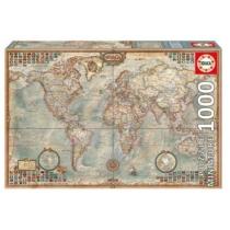 Puzzle mini Politikai világtérkép 1000 db-os Educa