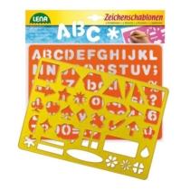 Rajzolósablon betűk és számok plusz formák