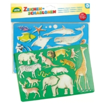 Rajzsablon Afrika és óceán állat mintákkal