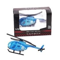 Rendőr jármű kék fém helikopter 1:72