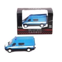 Rendőr jármű kék fém mikrobusz 1:72