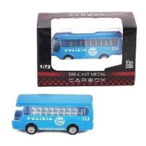 Rendőr jármű kék fém személyszállító busz 1:72
