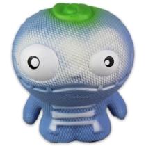 Zombeezz stresszlevezető, nyomkodható figura kék, csontváz ruhával 10 cm