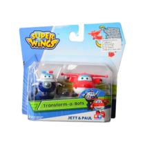 Super Wings Átalakuló játékrepülő 2 db-os készlet, Jett, és Paul (kicsi)