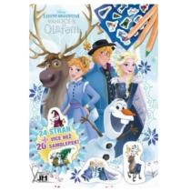 Színező matricával Jégvarázs Olaf kalandja