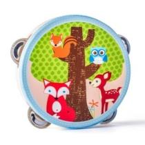 Tamburin csörgődob Erdei állatos fa Woody