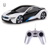 Távirányítós autó BMW i8 műanyag RC fehér-fekete 1:24