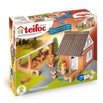 Tégla építőjáték farm szett 180 db-os kiegészítőkkel teifoc