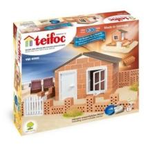 Tégla építőjáték ház és kerítés szett 130 db-os kiegészítőkkel teifoc