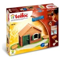 Tégla építőjáték házikó ajtóval és ablakkal szett 110 db-os kiegészítőkkel teifoc