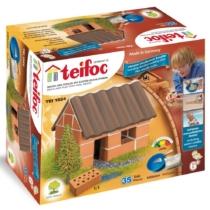 Tégla építőjáték kis családi ház 35 db-os kiegészítőkkel teifoc
