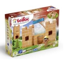 Tégla építőjáték kis kastély szett 120 db-os kiegészítőkkel teifoc