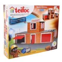 Tégla építőjáték tűzoltóság szett 220 db-os kiegészítőkkel teifoc