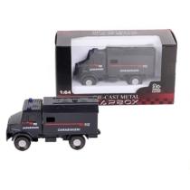 Teherautó fekete fém olasz rendőrségi 1:64