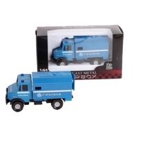 Teherautó kék fém olasz rendőrségi 1:64
