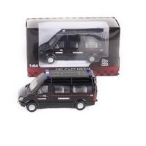 Teherautó fekete fém olasz rendőr mikrobusz 1:64