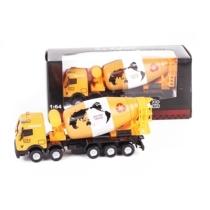 Teherautó sárga fém betonkeverő 1:64