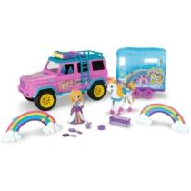 Terepjáró pink lószállítóval és kiegészítőkkel Pink Drivez