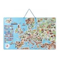 Térkép Európa mágneses 3 az 1-ben társasjáték 187 db-os 77 x 47 cm Woody