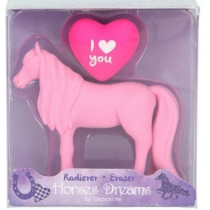 Top model Horses Dreams lovas radír szett (2 fajta) pink
