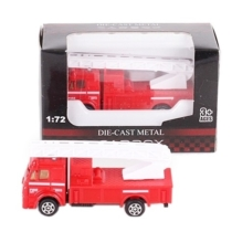 Tűzoltó jármű piros fém létrás tűzoltó autó 1:72