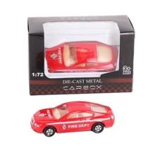 Tűzoltó jármű piros fém sportautó 1:72