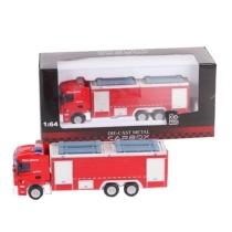 Túzoltó jármű piros fém tűzoltóautó 1:64