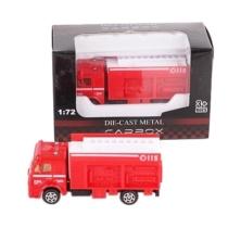 Tűzoltó jármű piros fém tűzoltóautó 1:72