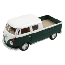 VW fém kisbusz hátrahúzós zöld 1:34