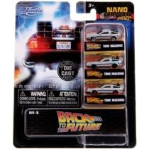 Vissza a jövőbe fém kisautó szett 3 db-os Nano Hollywood Rides